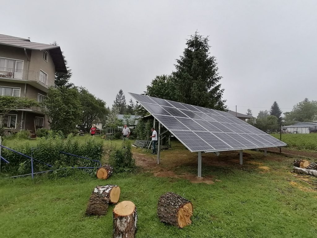 stół solarny nad Soliną